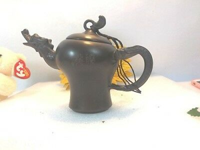 New Chinese MINI Tea Pot Dark-red Enameled Pottery  Clay tea pot
