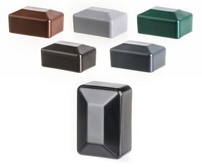 post end cap rectangular plastic fence accessories post cover tube pipe plug