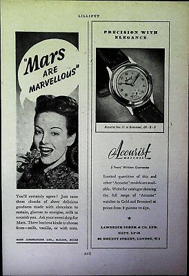 Retro 1940's Advertising - Small Page of Mixed Ads - Vintage Adverts - 109/02