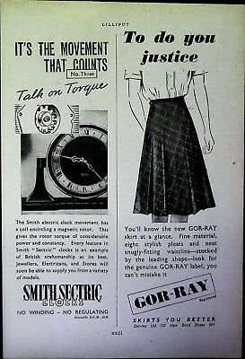 Retro 1940's Advertising - Small Page of Mixed Ads - Vintage Adverts - 109/06