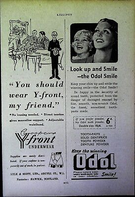 Retro 1940's Advertising - Small Page of Mixed Ads - Vintage Adverts - 109/07