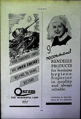 Retro 1940's Advertising - Small Page of Mixed Ads - Vintage Adverts - 109/08