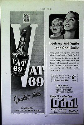 Retro 1940's Advertising - Small Page of Mixed Ads - Vintage Adverts - 109/14