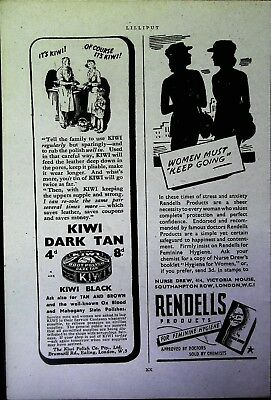 Retro 1940's Advertising - Small Page of Mixed Ads - Vintage Adverts - 109/15