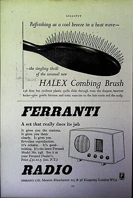 Retro 1940's Advertising - Small Page of Mixed Ads - Vintage Adverts - 109/18
