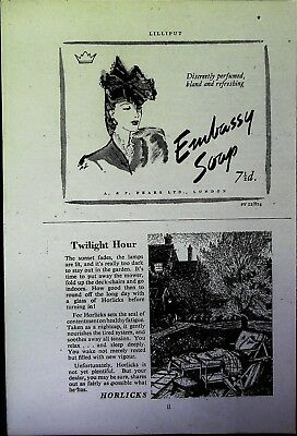Retro 1940's Advertising - Small Page of Mixed Ads - Vintage Adverts - 109/19