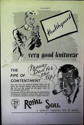 Retro 1940's Advertising - Small Page of Mixed Ads - Vintage Adverts - 109/20