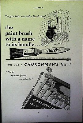 Retro 1940's Advertising - Small Page of Mixed Ads - Vintage Adverts - 109/21