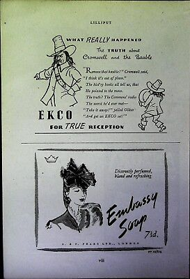 Retro 1940's Advertising - Small Page of Mixed Ads - Vintage Adverts - 109/23