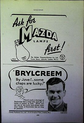 Retro 1940's Advertising - Small Page of Mixed Ads - Vintage Adverts - 109/24