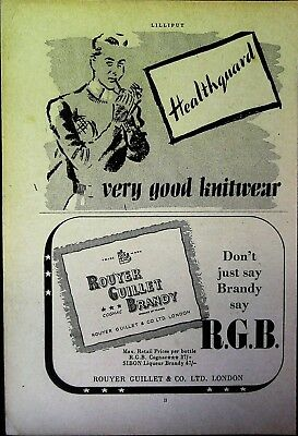 Retro 1940's Advertising - Small Page of Mixed Ads - Vintage Adverts - 109/25