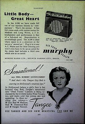 Retro 1940's Advertising - Small Page of Mixed Ads - Vintage Adverts - 109/26