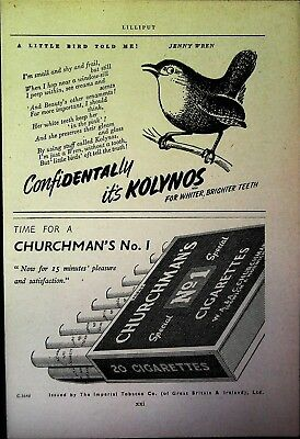 Retro 1940's Advertising - Small Page of Mixed Ads - Vintage Adverts - 109/27