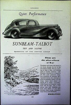 Retro 1940's Advertising - Small Page of Mixed Ads - Vintage Adverts - 109/30