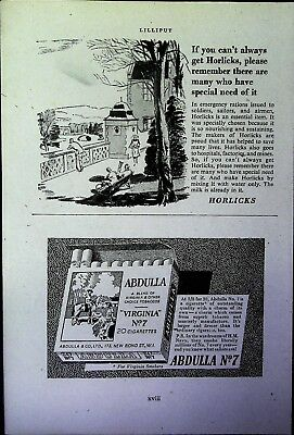 Retro 1940's Advertising - Small Page of Mixed Ads - Vintage Adverts - 109/31