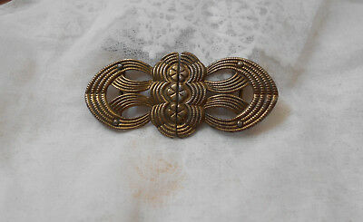 Vintage Ladies Art Deco Pressed Metal   Belt / Sash Buckle Clip  .