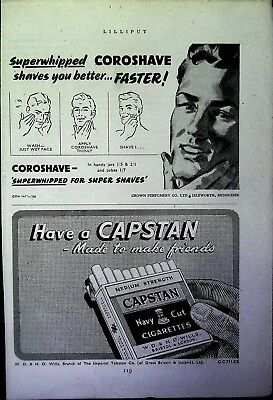 Retro 1940's Advertising - Small Page of Mixed Ads - Vintage Adverts - 109/38