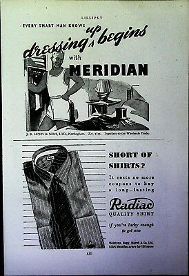 Retro 1940's Advertising - Small Page of Mixed Ads - Vintage Adverts - 109/40