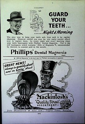 Retro 1940's Advertising - Small Page of Mixed Ads - Vintage Adverts - 109/41