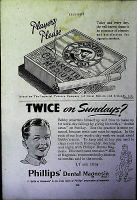 Retro 1940's Advertising - Small Page of Mixed Ads - Vintage Adverts - 109/42