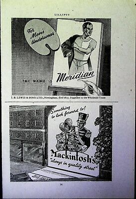 Retro 1940's Advertising - Small Page of Mixed Ads - Vintage Adverts - 109/43