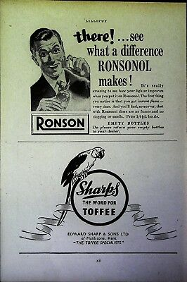 Retro 1940's Advertising - Small Page of Mixed Ads - Vintage Adverts - 109/46