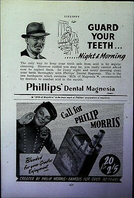 Retro 1940's Advertising - Small Page of Mixed Ads - Vintage Adverts - 109/49