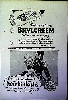 Retro 1940's Advertising - Small Page of Mixed Ads - Vintage Adverts - 109/50