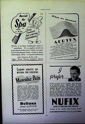 Retro 1940's Advertising - Small Page of Mixed Ads - Vintage Adverts - 110/02