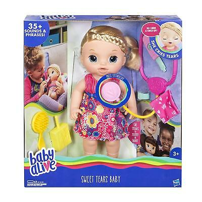 Baby Alive Sweet Tears Doll Animated Baby with 35+ Sounds & Accessories RRP £50