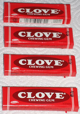 """4 Full Un-Opened Collectible Packs Of """"adams"""" Clove Chewing Gum---Nice!!!"""