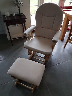 Rocking maternity/baby nursing chair & stool in good condition North Yorkshire