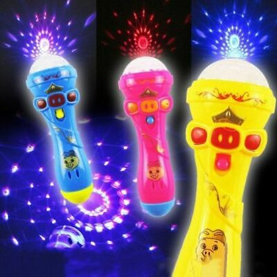 Xmas Funny Lighting Wireless Microphone Model Music Karaoke Cute Mini Child Toys