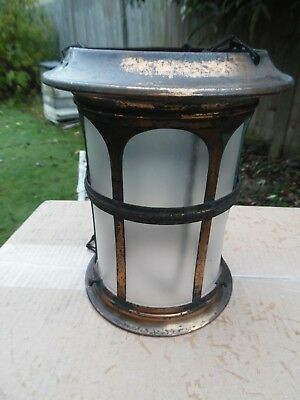 Arts&crafts Copper Porch Lantern - A.f