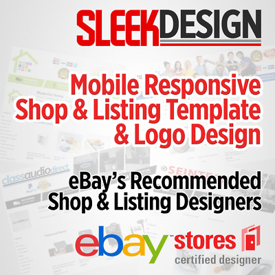 Shop Design and Mobile Responsive Listing Template for eBay *100% Compatible*