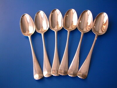 Set of 6 George II Silver Hanoverian Tablespoons - London 1756 by Ebenezer Coker