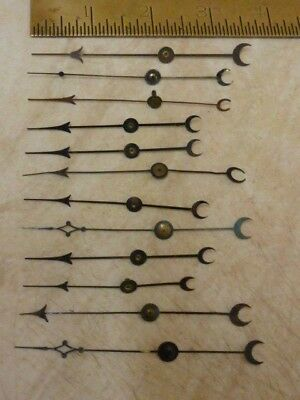 12 Old - Used Aneroid Barometer Hands-- For Small  Dials  (D4)