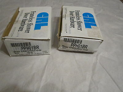 Lot of 2 CRL Polished Brass Prima 01 Series Top or Bottom Mount Hinges, New