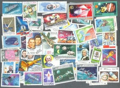 Space-500 all different stamp collection-mainly large