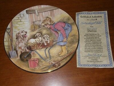 Royal Worcester 'A Child's Blessing' by Pam Cooper - SATURDAY'S CHILD BONE CHINA