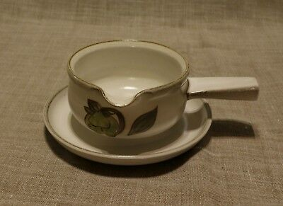 Denby Troubadour Gravy / Sauce Boat with matching saucer