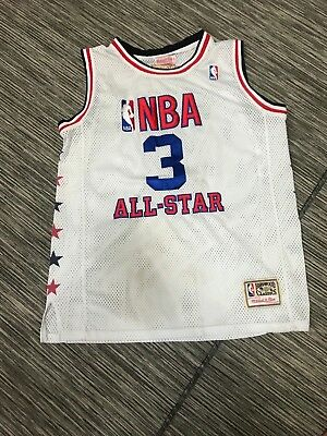 91ff0ae98c6 Mitchell Ness NBA All Star Allen Iverson #3 76ers White Sz 48 Hardwood  Classic