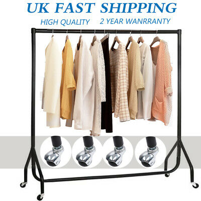 Clothes Garment Rail Dress Display Stand Rack Heavy Duty with Brake 4 5 6 FT