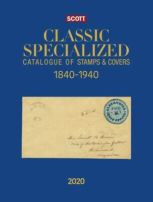 2019 Scott Classic Specialized Catalog World Catalogue Stamp Covers 1840 1940