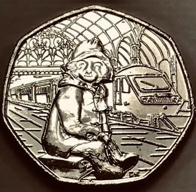 Paddington 50p Fifty Pence At The Station 2018 Coin Rare Collectible