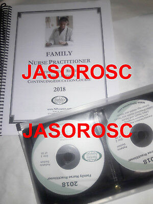 2018 Barkley Family Nurse Practitioner Review Book & CDs AUTHENTIC, Free Ship