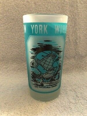 1964-1965 World's Fair Vintage frosted drinking glass