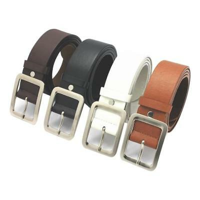 Men's Genuine Leather Fashion Belt Casual Pin Buckle Waist Strap Waistband Belts