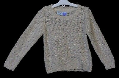 NEW! Girls YD Primark Beige Pastel Green Lilac Knit Style Jumper Age 5-6 Years