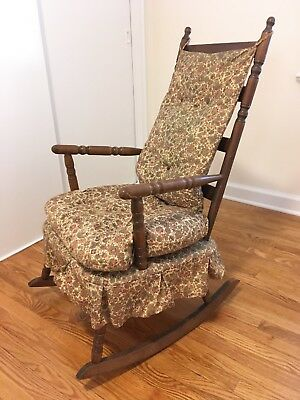 1950's vintage colonial style childs wooden rocking chair